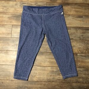 Adidas Climacool Cropped Leggings Blue